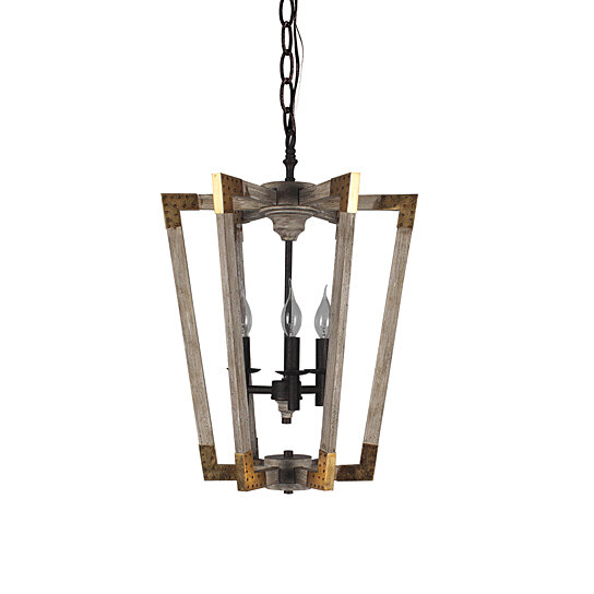 Retro Wooden Pendant Lamps Metal E12 Base For 3 Lights Chandelier With Iron Pull Chain By Joybase On Dot Bo
