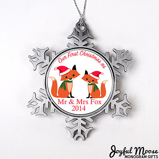 Buy Our First Christmas as Mr & Mrs Ornament - Personalized Wedding ...