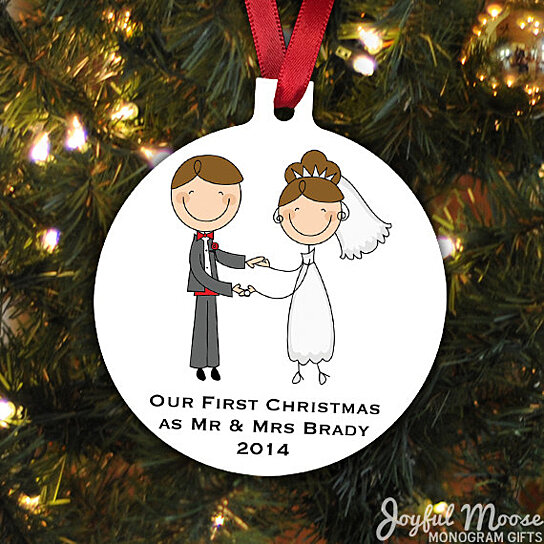 our first christmas ornament personalized christmas ornament wedding christmas ornament newlywed christmas gift