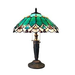 Stained Glass Chloe Lighting Victorian 2 Light Table Lamp