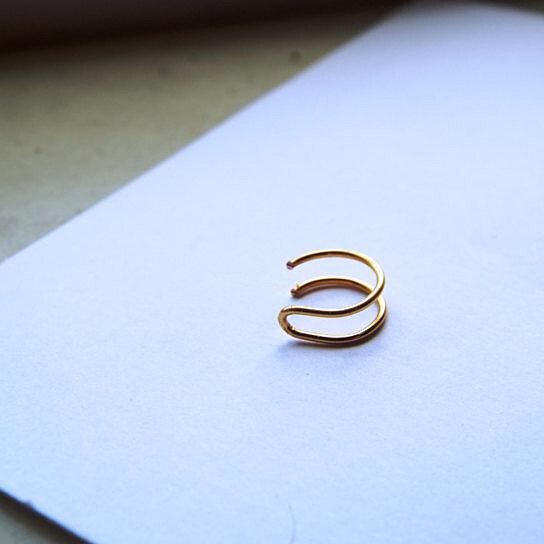 buy tiny 24k gold nose ring lip ring piercing