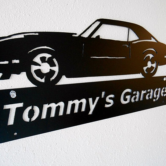 Personalized Man Cave Garage Signs : Buy personalized man cave classic chevrolet camaro