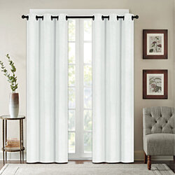 Chelsea Houston Solid Blackout Grommet Thermal Curtain Panels