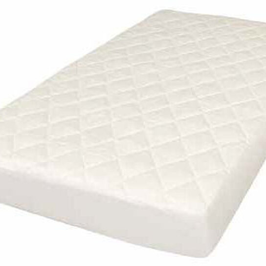 Buy Crib Mattress pad Quilted Topper 100% Cotton cover