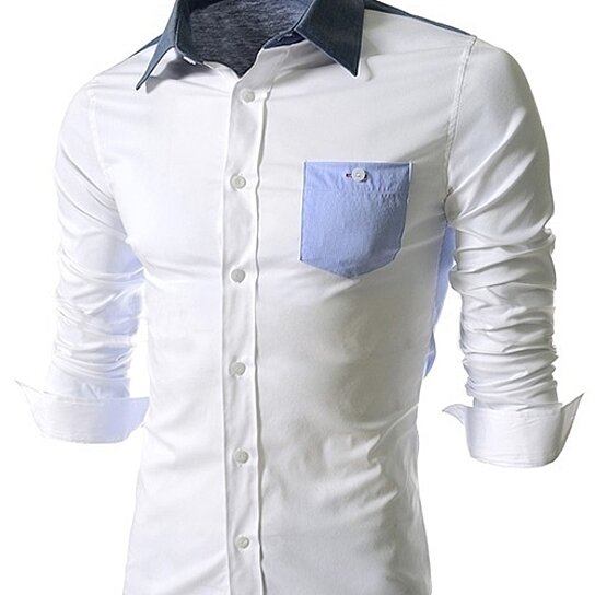 49044330a245 Trending product! This item has been added to cart 20 times in the last 24  hours. Korean fashion men's shirts stitching long sleeved shirt