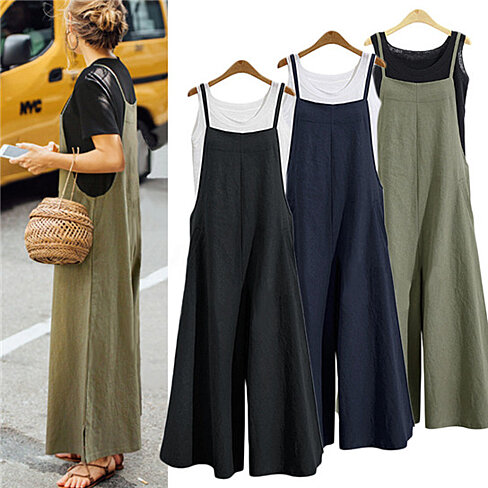 Wide Leg Pants Jumpsuit in 3 Colors