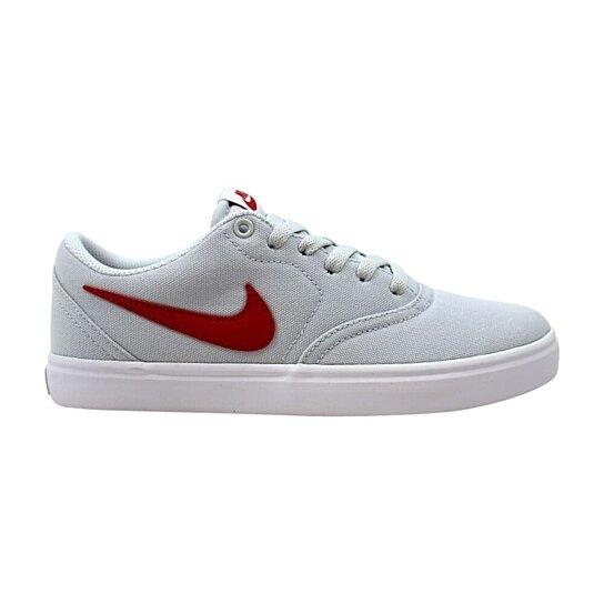 Buy Nike Sb Check Solar Cnvs Pure Platinum University Red White 843896 006 Men S By Kixrx On Opensky