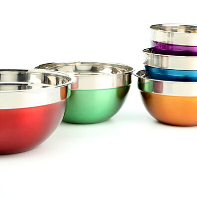5 PCS Stainless Steel Mixing Bowl