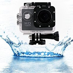 Black 30M Waterproof Sport Video Camera 1080P Full HD DVR DV