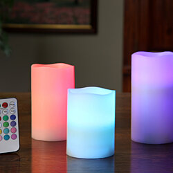 Large Color Changing Flameless Candles
