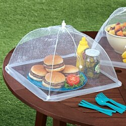 Large Pop-Up Mesh Screen Food Cover Tents- Pack of 2