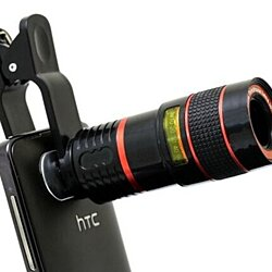 Universal 8x Zoom Telescope Camera Lens with Clip for Smartphone & Tablets