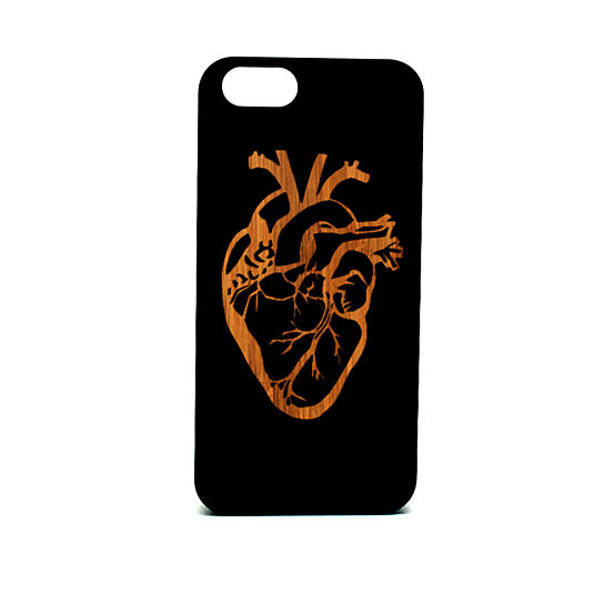 Buy Real Wood iPhone 6 Case, Anatomy Heart laser engraved ...