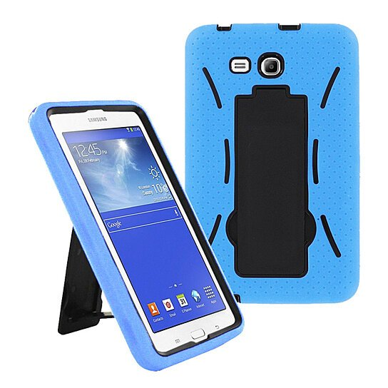 buy samsung galaxy tab 3 lite 7 inch t110 case hybrid protective cover w stand sky blue by. Black Bedroom Furniture Sets. Home Design Ideas