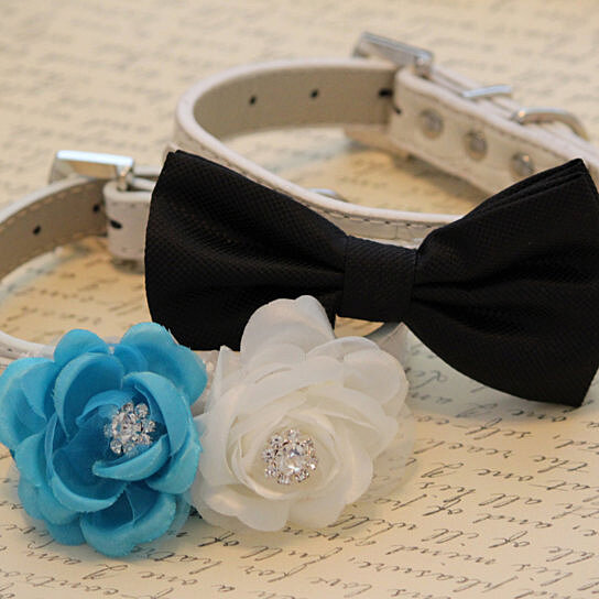 buy wedding dog collars two chic wedding dog collars black dog bow