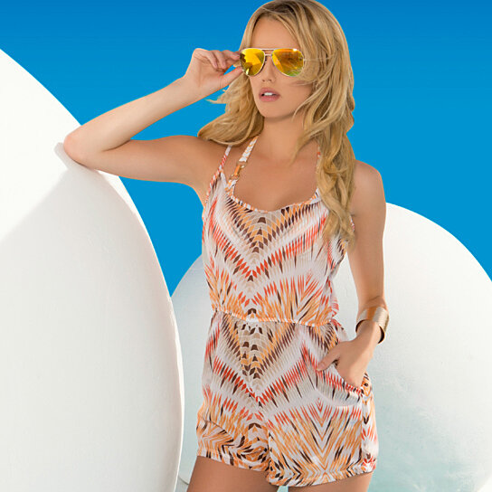 8ce4789657 Buy Wanderlust Tribal Beach Cover Up Romper by Lady Lux by Lady Lux on  OpenSky