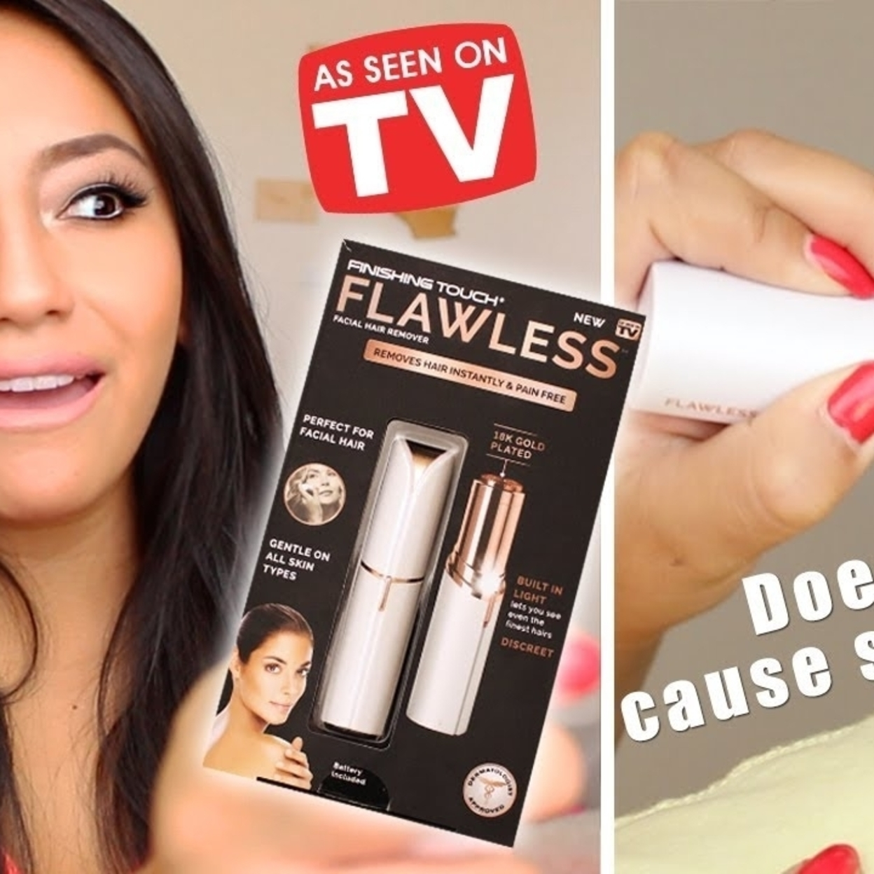 Finishing Touch Flawless Women Painless Hair Remover Face Facial Hair Remover 5a1b18f178280079b72825d6
