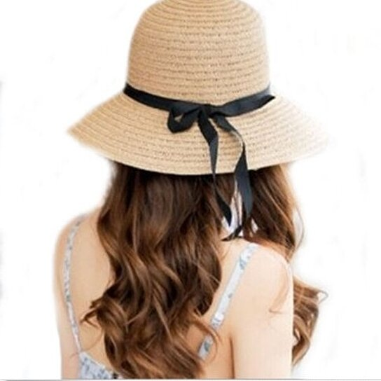 3c8c67f6830 Trending product! This item has been added to cart 29 times in the last 24  hours. Floppy Foldable Ladies Women Straw Beach Sun Summer Hat ...