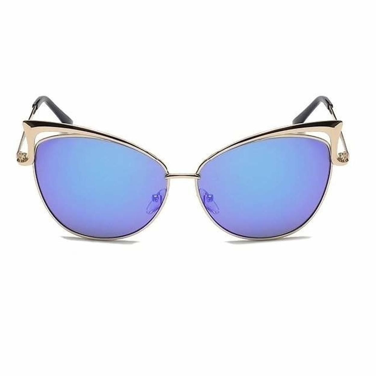 Gold Retro Cat Eye Sunglasses 59f5f4a0e224615b8566b8fe