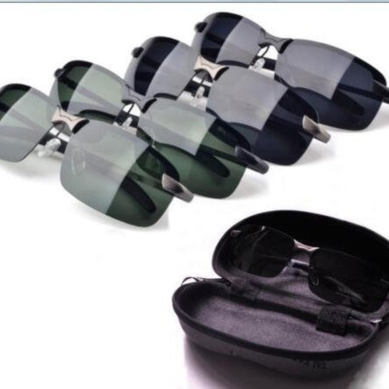 Men Black Polarized Aviator Glasses + Case 59f5f4a0e224615b7e3756fe