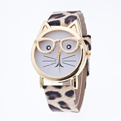 Unique Cat Face Watches-Assorted Colors