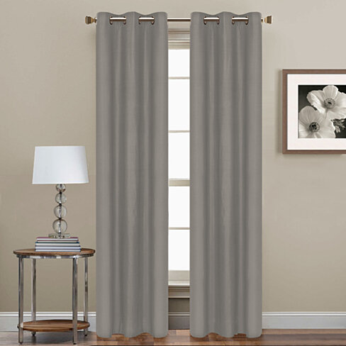 2-Piece Set: 84-inch Grommet Blackout Curtain Panels - Assorted Colors