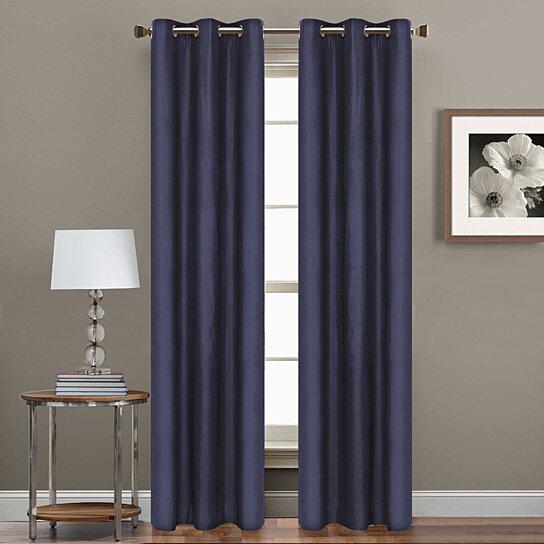 Buy 2 Piece Set 84 Inch Grommet Blackout Curtain Panels