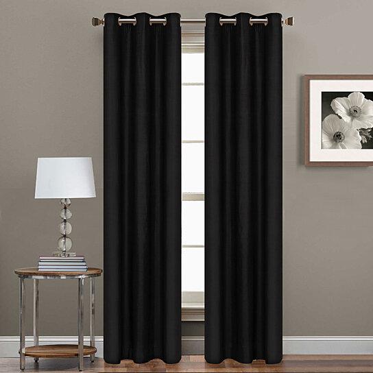 Buy 2 Piece Set 84 Inch Grommet Blackout Curtain Panels Assorted Colors By Laurel Park Home