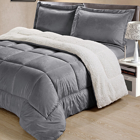 Buy Classic Collection Sherpa Comforter Set By Laurel Park