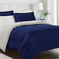 Modern 3PC Reversible Comforter Set - Assorted colors