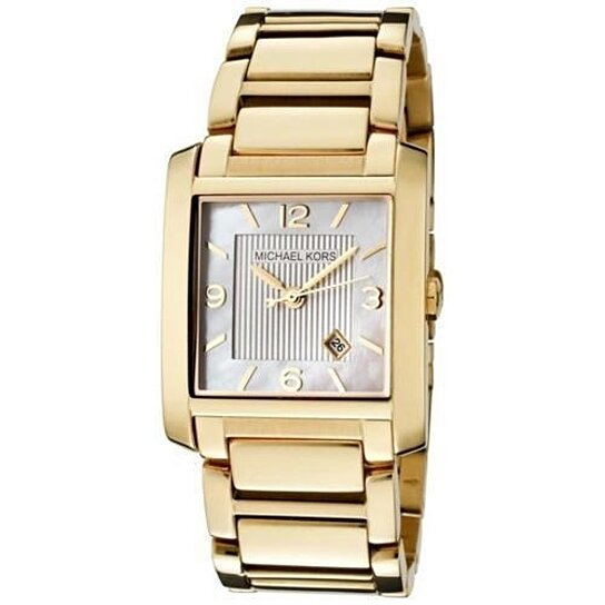 f15a5b62a Trending product! This item has been added to cart 99 times in the last 24  hours. MICHAEL KORS Mother of Pearl Dial Ladies Watch MK3147 Gold ...