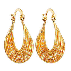 18K Gold Filled Womens Hoop Earrings