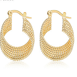 High quality gold filled hoop earrings