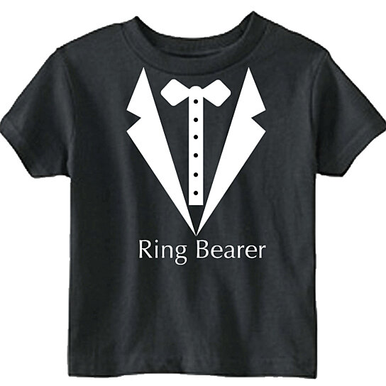 buy ring bearer tuxedo t shirt by leap of faith clothing