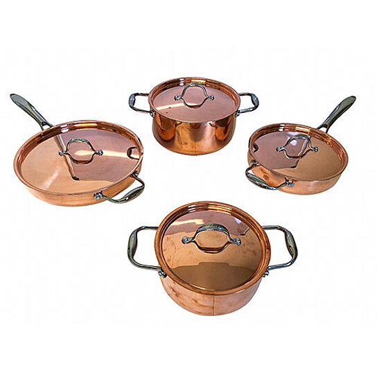 buy le chef 5 ply copper 10 piece cookware set with copper lid by le chef cookware on opensky. Black Bedroom Furniture Sets. Home Design Ideas