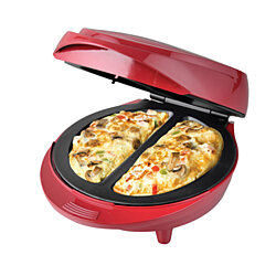 New Non-Stick Electric Double Omelette Maker Red.