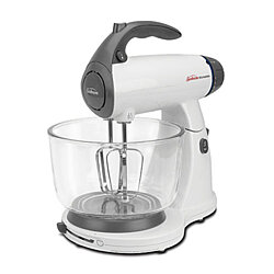 Sunbeam White 12 Variable Speed 350 Watt Mixmaster Stand Mixer With Glass Bowl