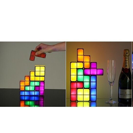buy tetris stackable led desk lamp by beecool deals on opensky. Black Bedroom Furniture Sets. Home Design Ideas