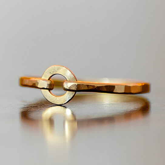 Buy Gold or Silver Circle Ring by Lexi Lu Jewelry on OpenSky