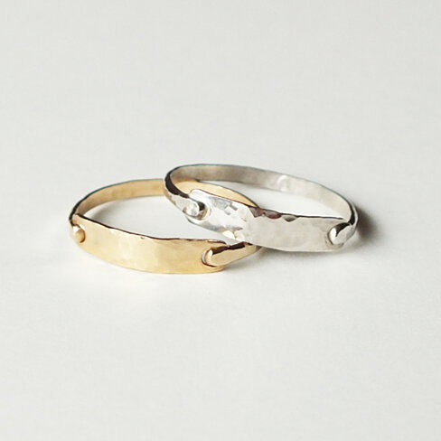 buy hammered gold bar ring by lu jewelry on opensky