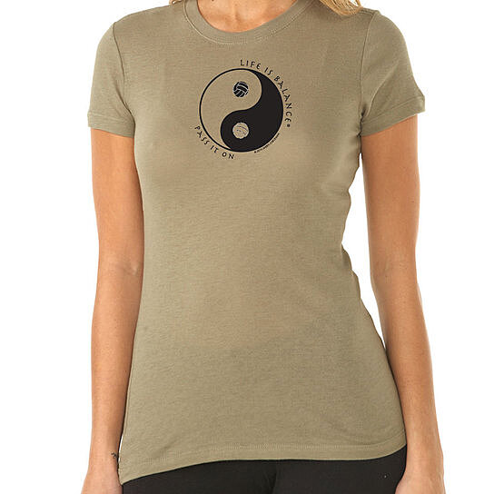 Buy short sleeve volleyball t shirt by life is balance on for Life is good volleyball t shirt