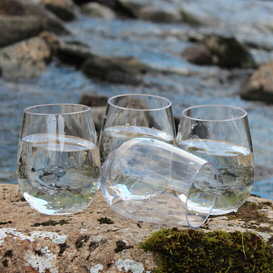 02ed2ae4848 Buy Stemless Wine Glass Wholesale Set of 36 Unbreakable Plastic Wine Glasses  from NOTMOG - Ideal for Events