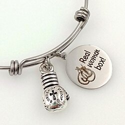 Boxing Themed, Real Women Box Charm Bracelet