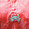 Colorful Beaded Beach Crab Long Necklace