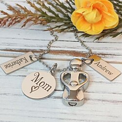 Mother and Child Necklace - Custom Personalization