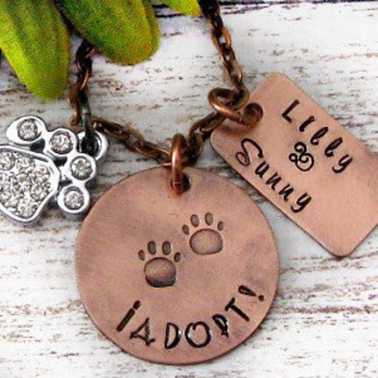 Rescue Pet Hand Stamped Personalized Necklace - Dog Adoption, Cat Adoption, Animal Shelter 52f91267c46da15875000114