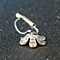 Silver and Crystal Flower Petal Cocktail Ring-Necklace-Earring