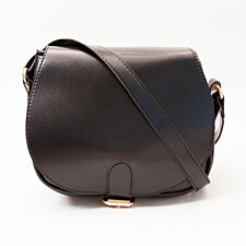Black Saddle Crossbody Handbag