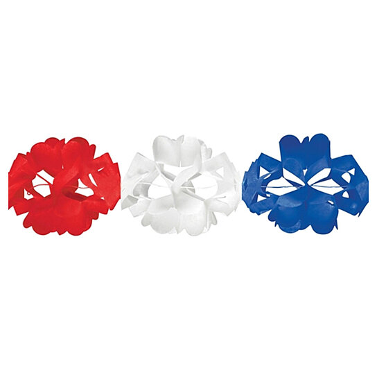 Buy Red White & Blue Paper Tissue Garland 10/Case of 12 by Limitless ...