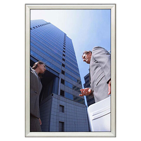 Buy Snap Frame 20 x 30 Poster Size 1.25 inch Silver Color Profile Safe ...